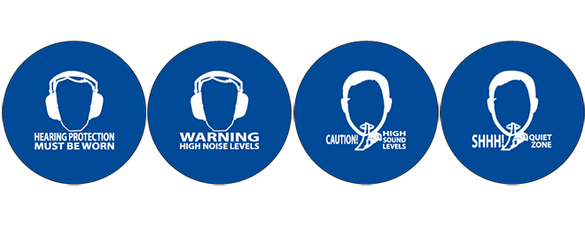 soundsign noise activated warning sign versions