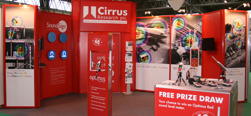 noise measurement and sound level meter exhibitions and conferences stand