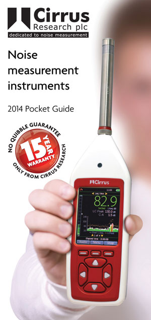 Download our new noise measurement instruments pocket guide